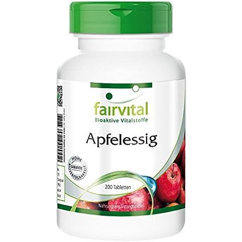 Fairvital - Aceto di mele - 500mg per capsula - 4000 mg al giorno - confezione mensile - 120 capsule