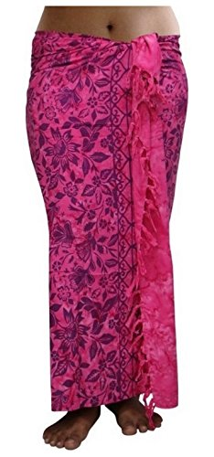 ca.100 Modelle im Shop Sarong Strandtuch Pareo Wickelrock Loop Stola pink Sar83