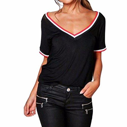 Familizo Blouse,Women Ladies Casual Short Sleeve V Neck T-Shirt Tee Top Blouse