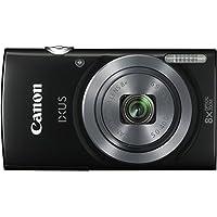 Canon IXUS 160 Digitalkamera (20 Megapixel, 8-fach optisch, Weitwinkel-Zoom, 16-fach ZoomPlus, 6,8 cm (2,7 Zoll) LCD-Display, HD-Movie 720p) schwarz