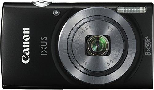 Canon IXUS 160 Digitalkamera (20 MP, 8-fach optisch, Weitwinkel-Zoom, 16-fach ZoomPlus, 6,8cm (2,7 Zoll) LCD-Display, HD-Movie 720p) schwarz -