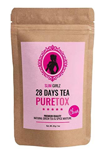 Tè Slim Girlz 28 Giorni di Disintossicazione | Per le donne | Perdita di peso | Dimagrisce e purifica il tè | Dieta e perdita di grasso | 85g Tè a foglia sciolto | Integratore alimentare naturale
