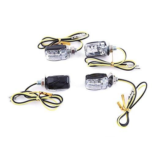 VGEBY 4Pcs 12V Universal-Motorrad-Blinker-Blinker-Licht 4 X 6 LED Mini-LED-Lampe ( Farbe : Schwarz )