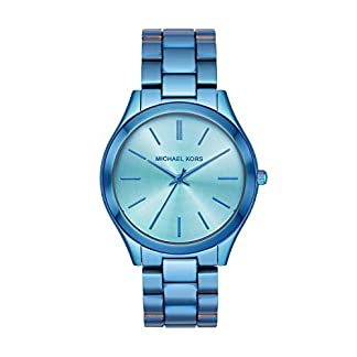 Michael-Kors-Damen-Analog-Quarz-Uhr-mit-Edelstahl-Armband-MK4390