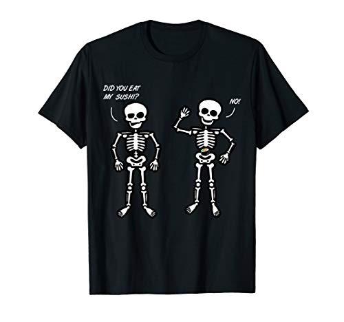 Frauen Sushi Kostüm - Zwei Skelette Streiten Sushi Kostüm Halloween Geschenk T-Shirt