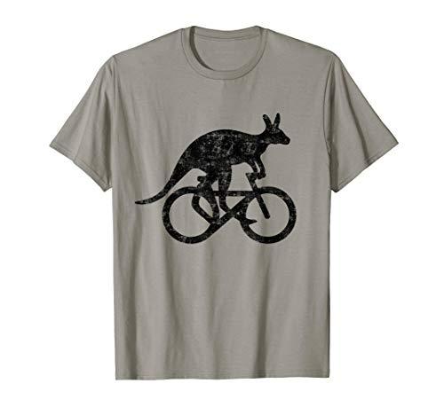 Känguru fährt Fahrrad lustige Motivation Australien Geschenk T-Shirt (T-shirt Damen Australien)
