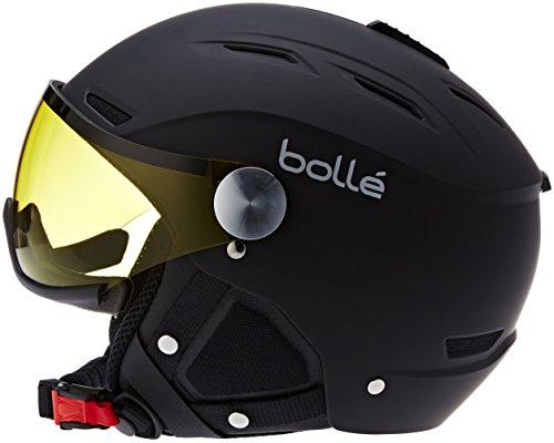 Bollé 31156 - Casco de esquí Backline Negro/Plateado (Soft Black/Silver), visor Plateado/Limón (Silver Gun/Lemon), 59–61cm