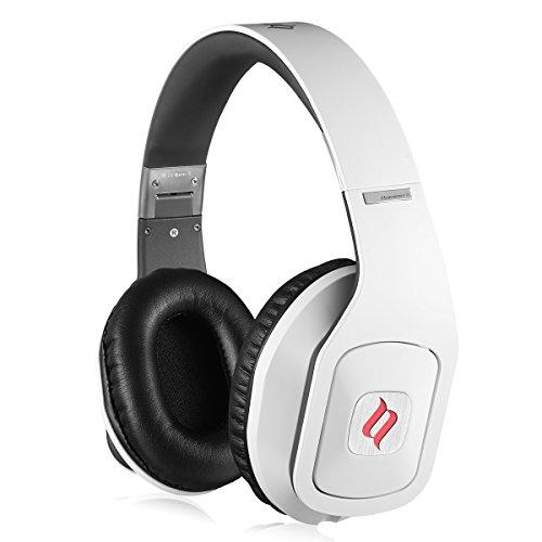 Noontec Hammo S Over-Ear Kopfhörer Mit Mikrofon, Kopfhörer Schutztasche und Preisgekrönt Sound Kompatibel mit Apple iOS und Android Geräten Weiß