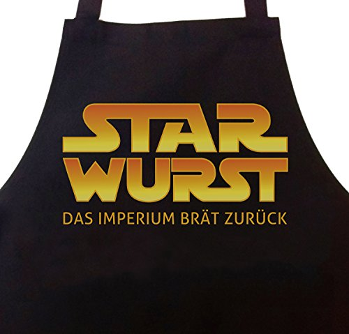 STAR WURST Grillschürze Kochschürze Imperium brät zurück