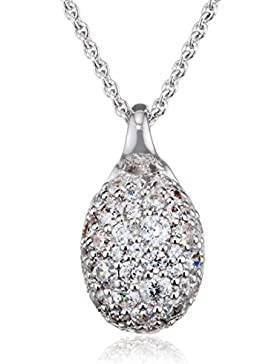 Joop! Damen-Collier 925 Silber Zirkonia weiß Rundschliff 40 cm - JPNL90759A420