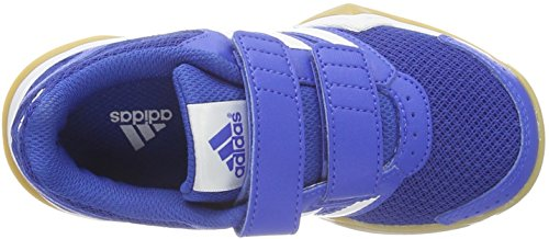 adidas Interplay Cf K, Scarpe Sportive Indoor Unisex – Bambini Rosso (Navy)