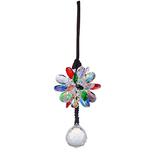 H & D 30 mm Pendentif Boule à Suspendre avec perles de cristal coloré pour cadeau