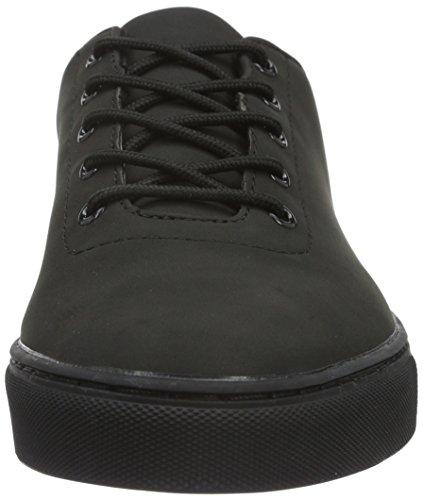 Bianco Laced Up Shoe Jja16, Baskets Basses Homme Noir - Schwarz (10/Black)