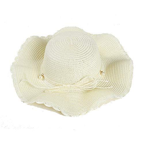 WE-WIN Strohhut große Krempe Sonnenhut Frauen Sommer Strand Cap Big Floppy Hats für Frauen Mädchen Fashion Trilby Hut