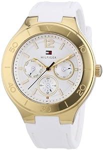 Reloj Tommy Hilfiger Watches 1781329 de cuarzo para mujer, correa de silicona color blanco de Tommy Hilfiger Watches