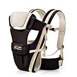 Baby Carrier with Hip Seat 2 in 1 Infant Front Carrier Baby Sling One Size Toddler Wrap from Birth to 16kg