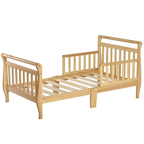Dream On Me Classic Sleigh Toddler Bed - Natural by Dream On Me -