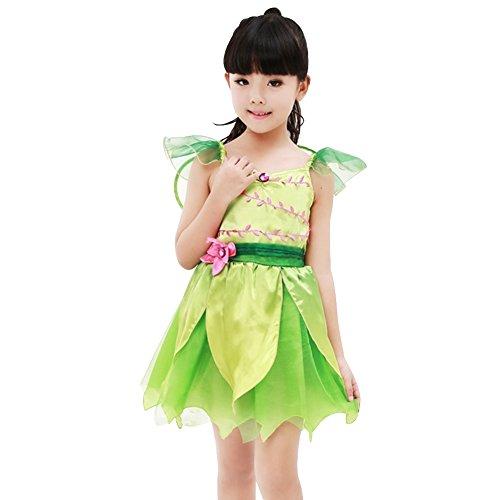 Imagen de m&a disfraz de campanilla para niña verde 110/116 talla del fabricante l