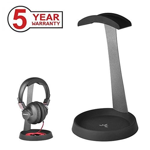 Avantree HS102 - Soporte de auriculares con soporte de cable, Anchura 4cm, Altura 25cm, Negro