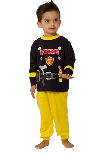 Fireman pyjamas Fancy Dress Fire Chief Pyjamas 2 3 4 5 Years sam (3-4 Years)
