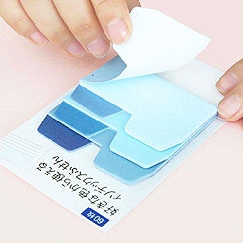 Pinzhi Juego Colorido Gradiente Sticky Memo Pad Etiqueta Diaria Nota Marcador Scrapbooking
