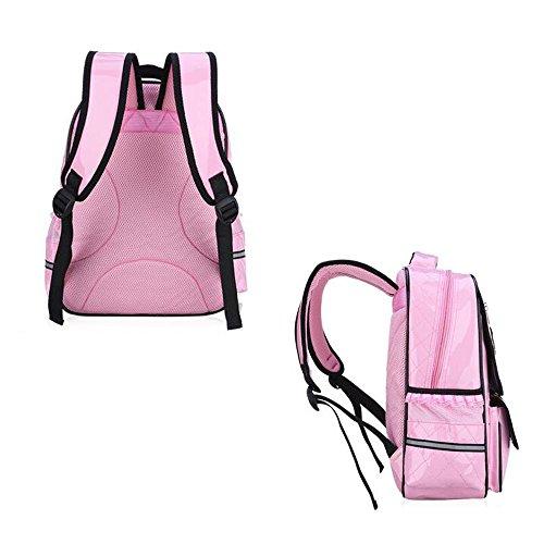 *Comfysail enfant Impermeable Filles Mignon cuir Pu école Sacs d'ecole primaire with Bow princesse style (Rose) Offre de prix