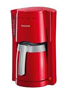 Severin 4126 Cafetière Isotherme 800 W 1.0 L Rouge Gris