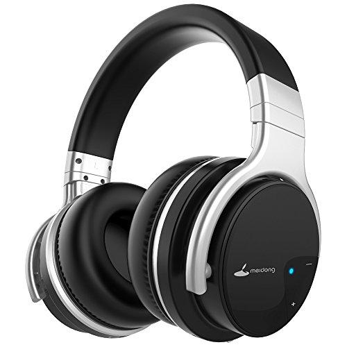 Bluetooth Kopfhörer, Meidong E7B Leichte drahtlose Kopfhörer mit Mikrofon Hi-Fi Sound Deep Bass Headsets über Ohr, Bequeme Protein Ohrpolster, 30 Stunden Spielzeit für Reisen Arbeit TV