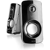 Speedlink Aktives Lautsprechersystem - VEOS Stereo Speaker 3,5mm (starke Bässe und hohes Volumen für hochkarätigen Klang - Frequenzgang von 100Hz bis 20kHz - ideal für Spiele, Musik und Filme) für Computer / Laptop schwarz
