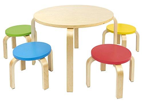 Sedie In Legno Colorate : Leomark tavolo & sedie set in legno da tavolo per bambini e quattro