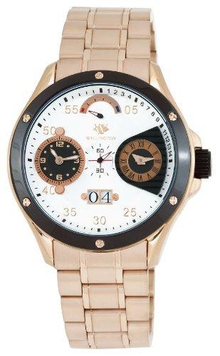 Wellington WN300-318 - Reloj de caballero automático, correa de acero inoxidable color rosa