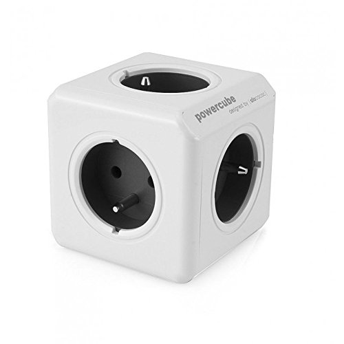 Allocacoc PowerCube Original USB, Sockel-Type: E (4 x Ausgänge), Farbe: Grau
