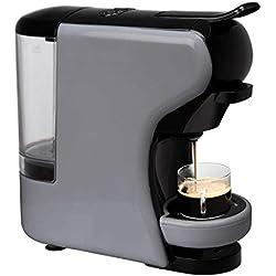 IKOHS Machine à café Expresso Italien - Cafetière Multi-dosettes Nespresso 3 en 1 Life, 1450 W, 19 Bars, Réservoir 0,7 L, Machine à Café Nespresso, Automatique, Qualité Professionnelle Gris