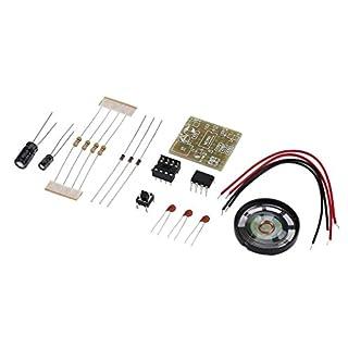 Hemore Türklingel Suite Elektronikproduktion Türklingel Suite DIY Kit NE555 Qualität, langlebig Baumarkt Eisenwaren Vorräte