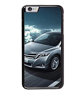 Fuson Premium 2D Back Case Cover Stylish car on Road With blue Background Degined For Apple iPhone 6