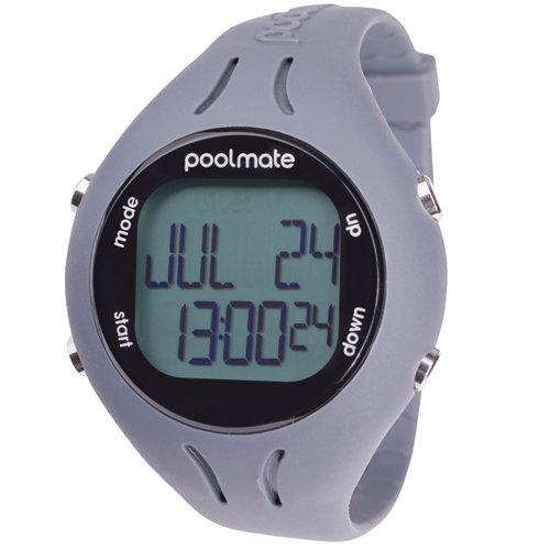 Swimovate Pool Mate 2 Reloj Cuenta Vueltas, Unisex, Gris
