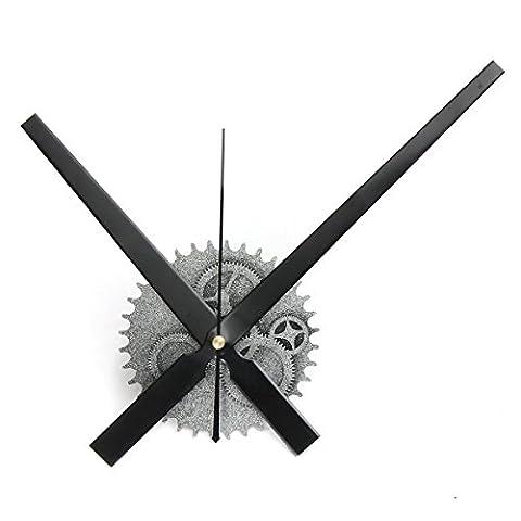 Wall Clock - SODIAL(R) Vintage DIY Mechanism Large Wall Clock Home Living Room Decoration Art Design silver