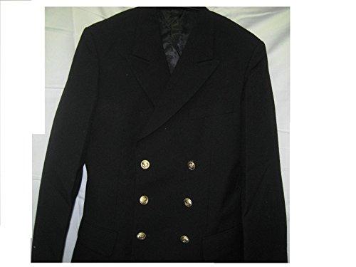 Marine Jacke Uniform Fasching Karneval Kapitän Ankerknöpfe Mottoparty -