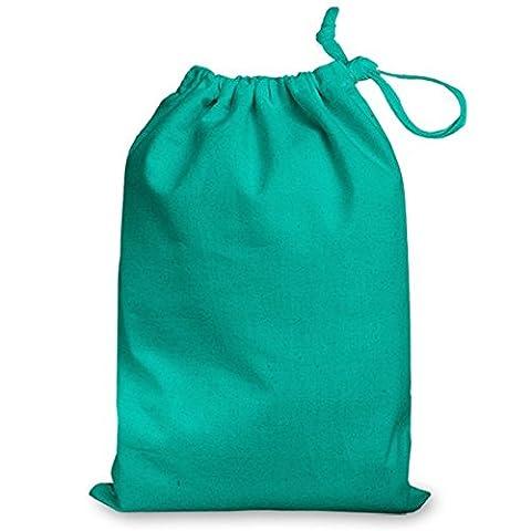 100% coton Turquoise Medium Sac avec cordon de serrage 25 x 35 cm-Idéal pour les Sacs cadeaux Gym, la piscine, des chaussures, rangement