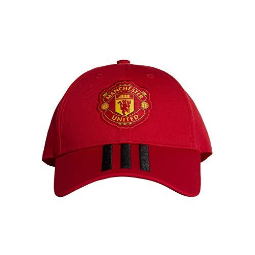 Adidas MUFC 3S Cap - Gorra 3ª equipación Manchester United FC, Mujer, Rojo(ROJREA/Negro)