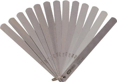 KS Tools 300.0615 Jeu de 13 lames calibrées à échelle métrique