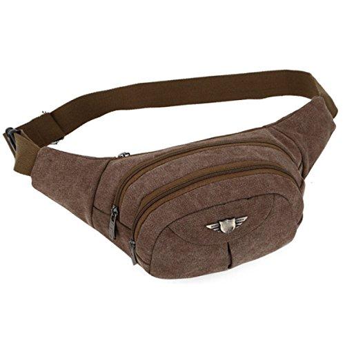 Männer Canvas Casual Bag Große Kapazität Mode Taschen,Brown Brown