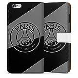DeinDesign Étui Compatible avec Apple iPhone 6 Plus Étui Folio Étui magnétique Paris Saint-Germain Logo PSG