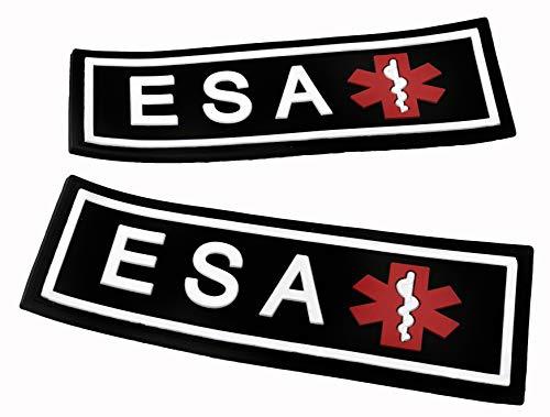 Dog Line 3D Gummi PVC ESA Patch Label Tag für Hundegeschirr Halsband Weste, 2