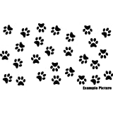 ThatVinylPlace - Vinilo adhesivo de huellas de perro/gato, juego de 29x (6,5cm x 6,2cm), 18 colores a elegir