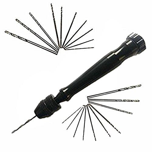IEVE 21pcs Mini Micro Twist punte per trapano Attrezzi manuali Pin Morse Drill Set con 20 Punte Twist