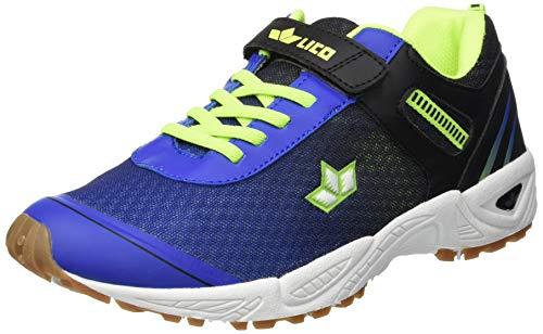 Lico Barney Vs, Chaussures de Fitness Mixte Enfant, Blau/Schwarz/Lemon