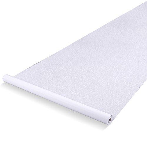 isle Runner - Essential Indoor oder Outdoor-Hochzeit Dekoration, mit dem Blatt-Impressum, 3 X 50 Feet Weiß ()