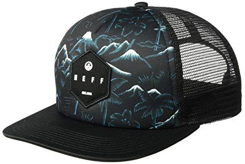 Neff Unisex-Erwachsene Adjustable Snapback Trucker Hat Baseball Cap, Black/Vaca, Einheitsgröße