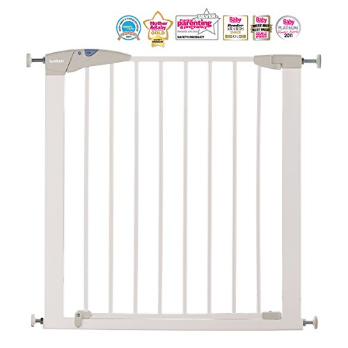 Lindam Sure Shut Axis Pressure Fit Safety Gate – 76 – 82 cm (white)